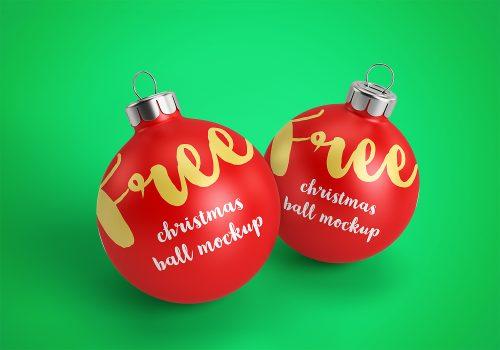 Christmas Ball (Bauble) Ornament Mockup