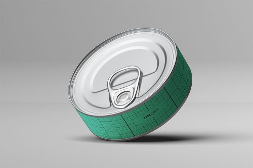 Flat Tin Can Mockups PSD