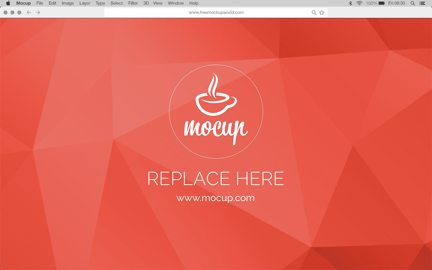 Free Menu Bar & Browser Mockup