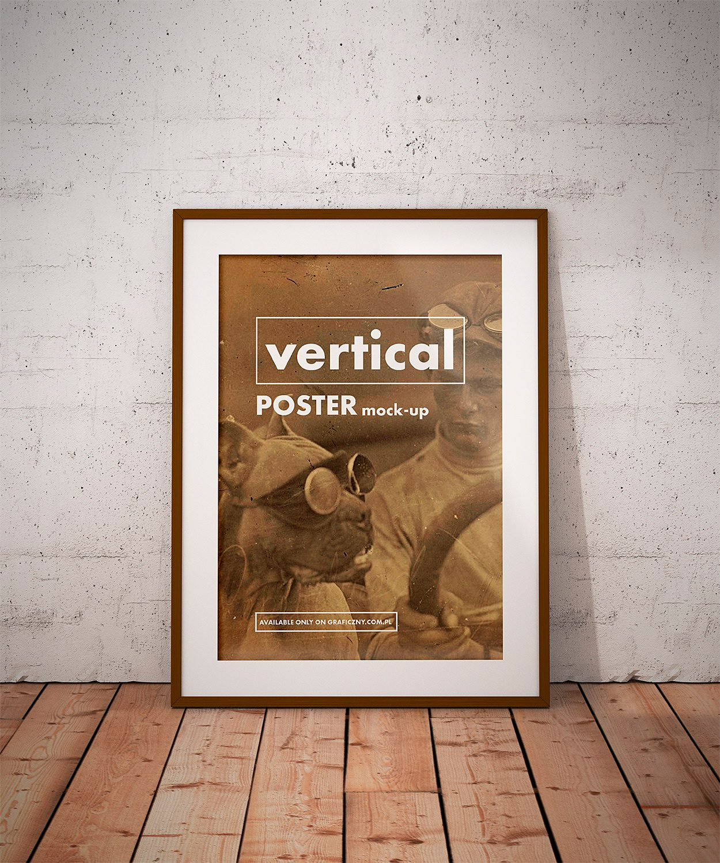 Free Vintage Posters Frame Mockup