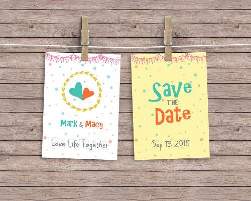 Hanging Cards Mockup PSD