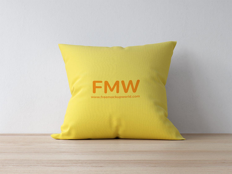 Premium Quality Square Pillow Cushion Mockup