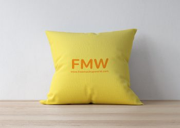 Premium Quality Square Pillow Cushion Mockup