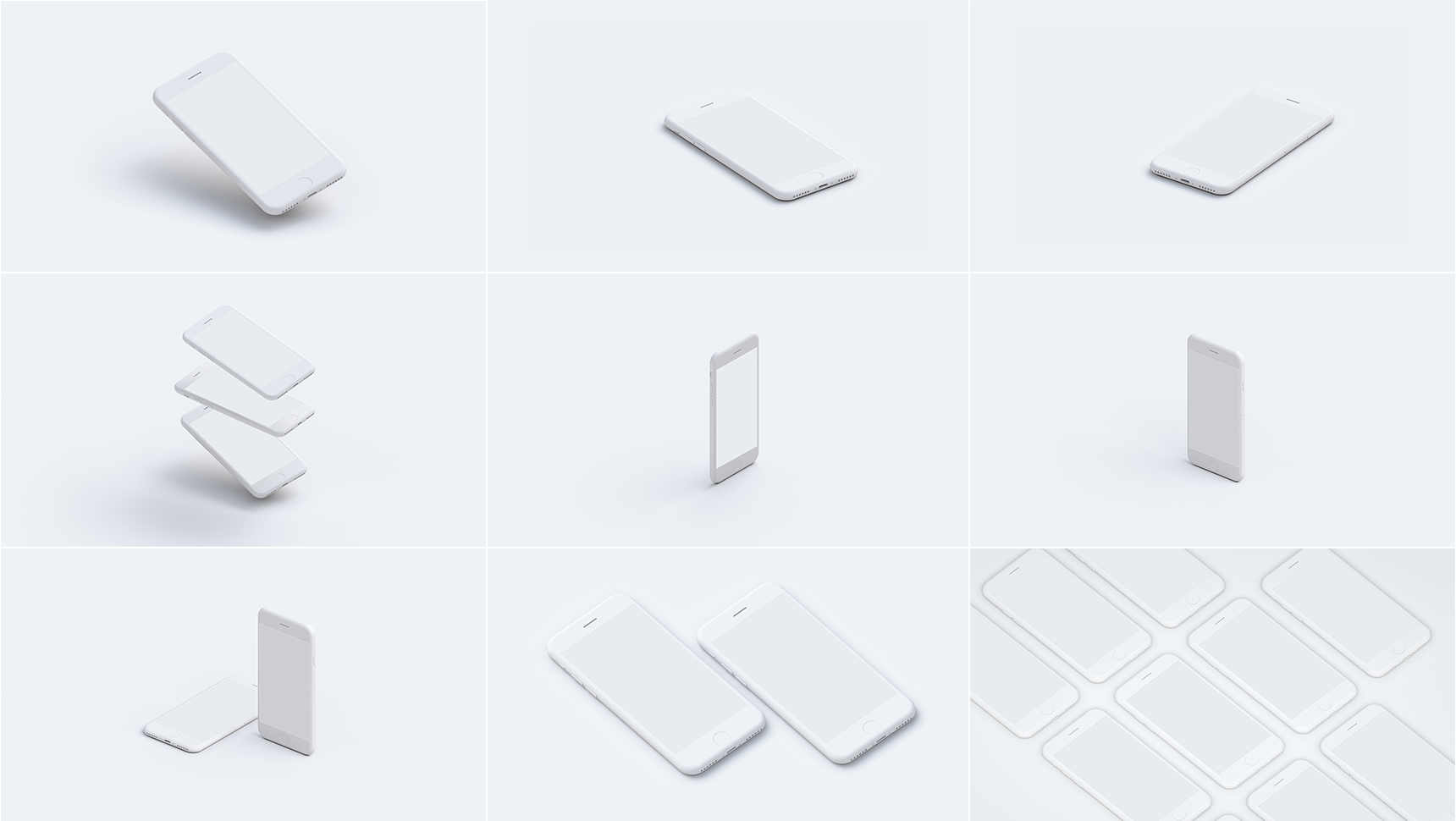 9 Free PSD Hi-Res iPhone Mockups
