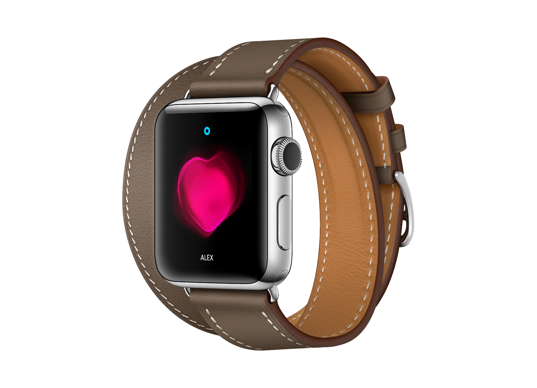 Apple Watch Leather Band Mockup PSD