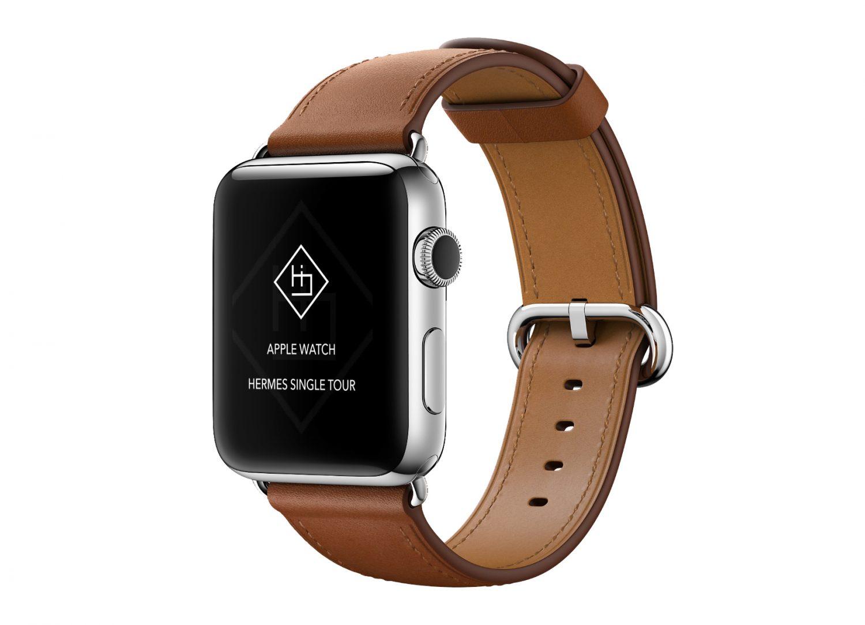 Apple Watch Leather Band Mockup PSD