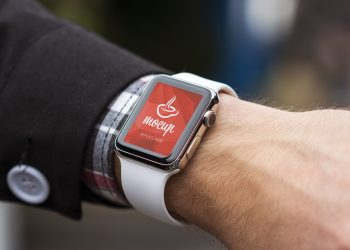 Apple Watch on Wrist Mockup