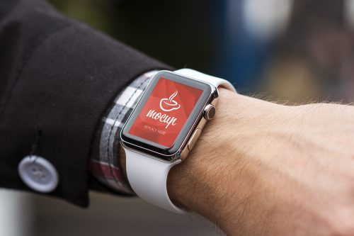 Apple Watch on Wrist Mockup