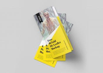 Bi-Fold Brochure Mockup PSD