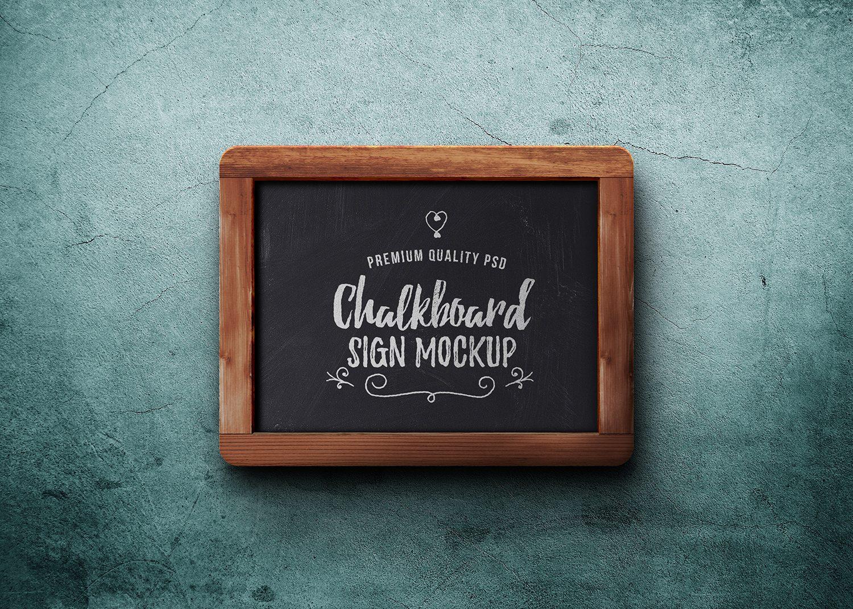 Chalkboard Sign PSD Mockup