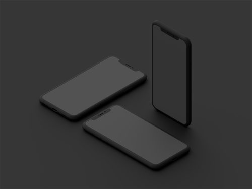 Clay Style iPhone X Mockups