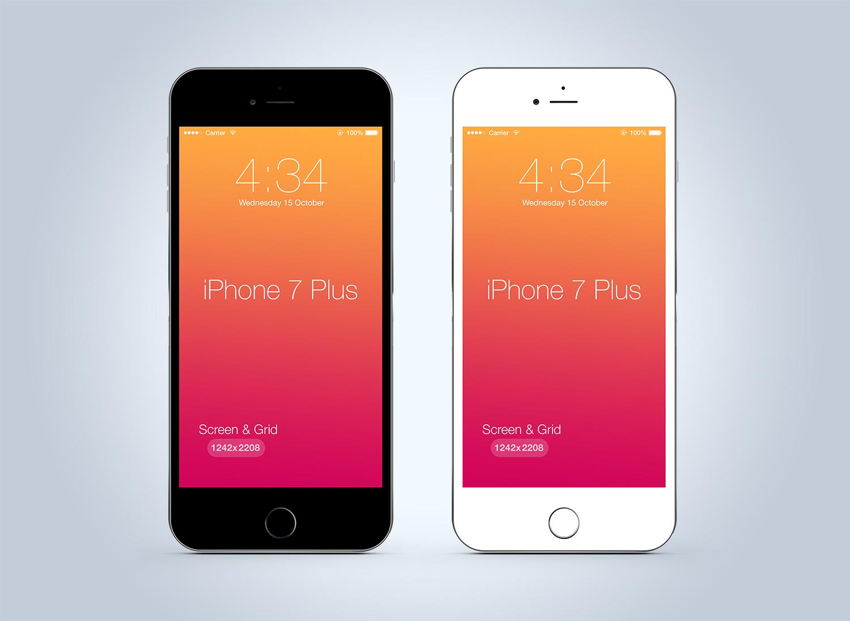 Clean iPhone 7 Plus Mockup