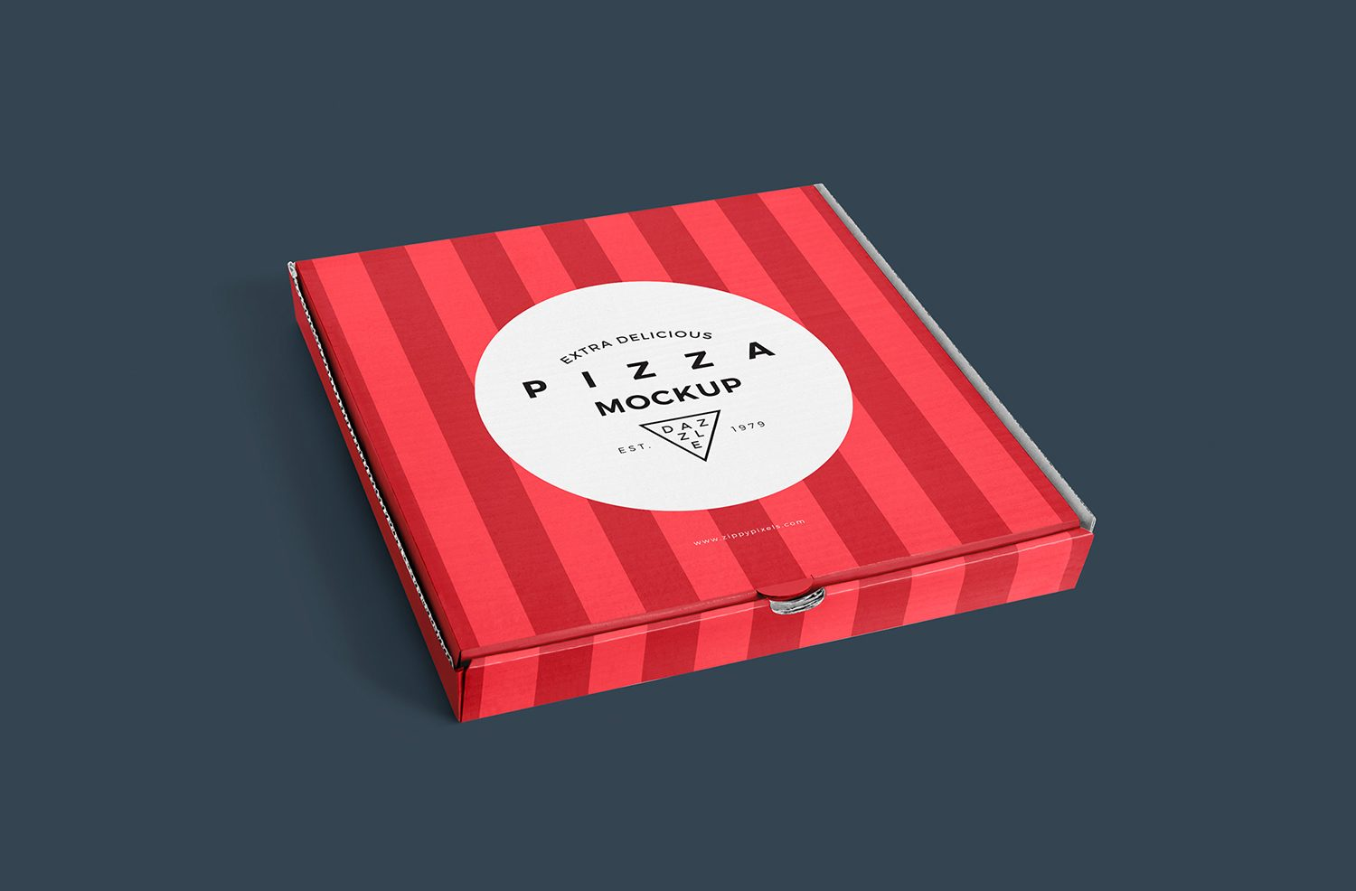 Free Delicious Pizza Box Mockup