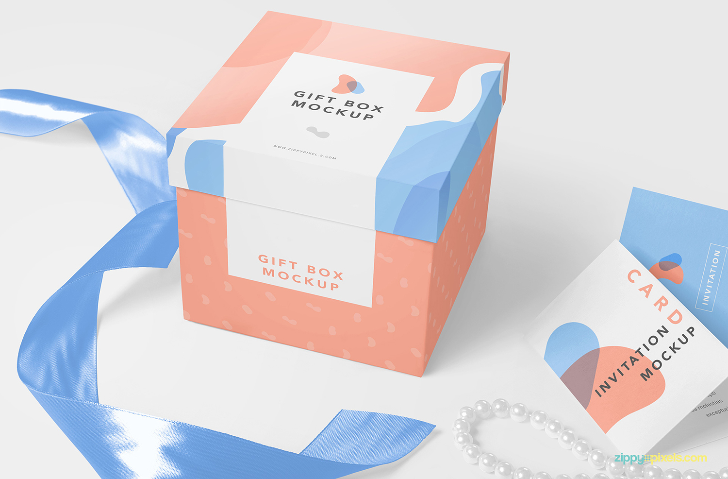 Free Gift Box Packaging Mockup