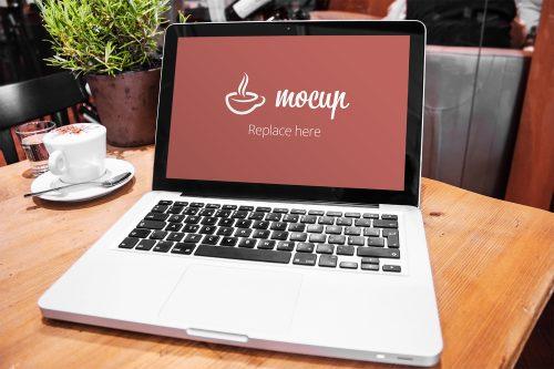 Free MacBook Pro Mockup Restaurant