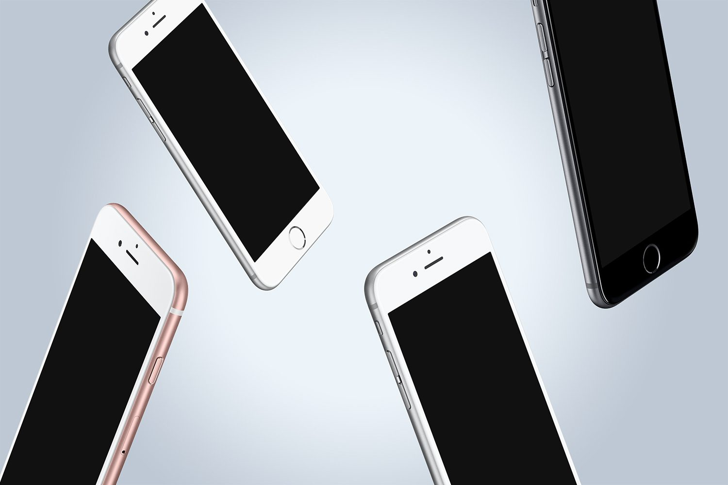 Free iPhone 6 Floating Mockups PSD