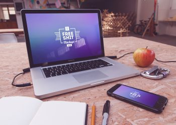 Huge MacBook and iPhone Mockup Bundle
