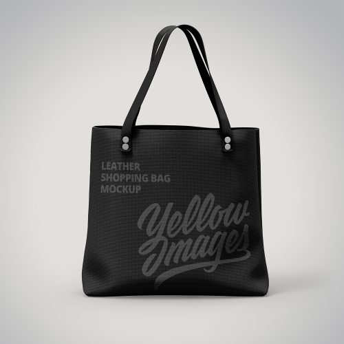 Leather Shopping Bag Mockup
