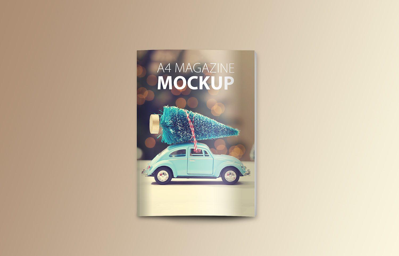 PSD Magazine Mockup Top View