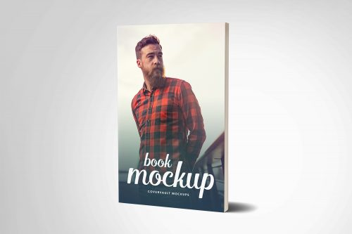 Paperback Book Mockup with Fewer Pages