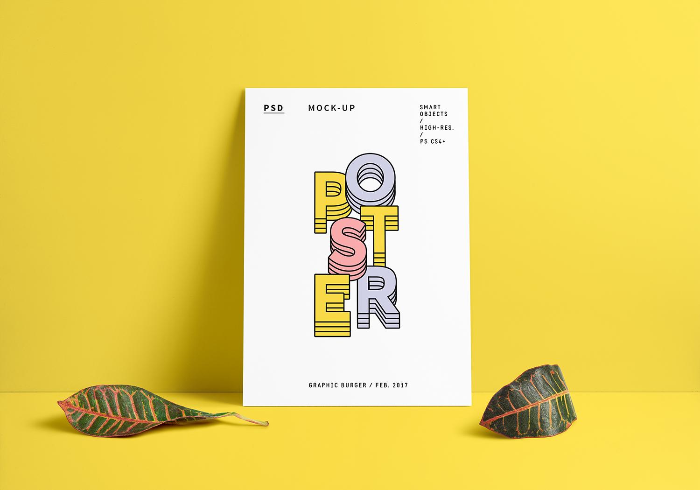 Poster Mockup PSD (Portrait & Landscape)