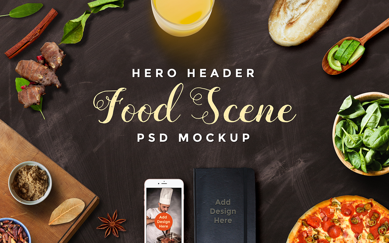 Set of Hero Image Mockup Scenes