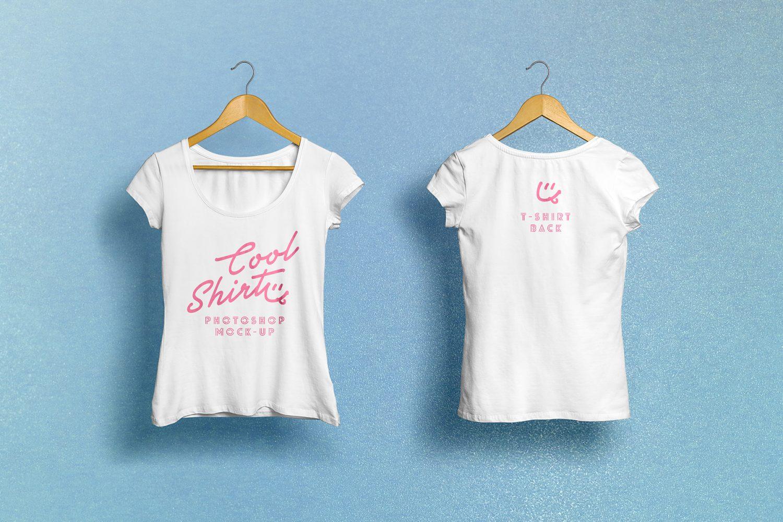 Woman T-Shirt Mockup