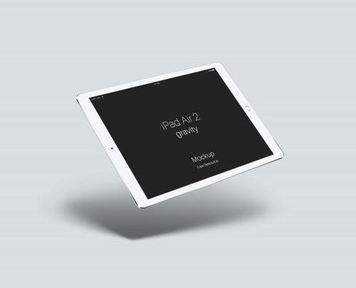 iPad Air 2 Gravity Mockup PSD