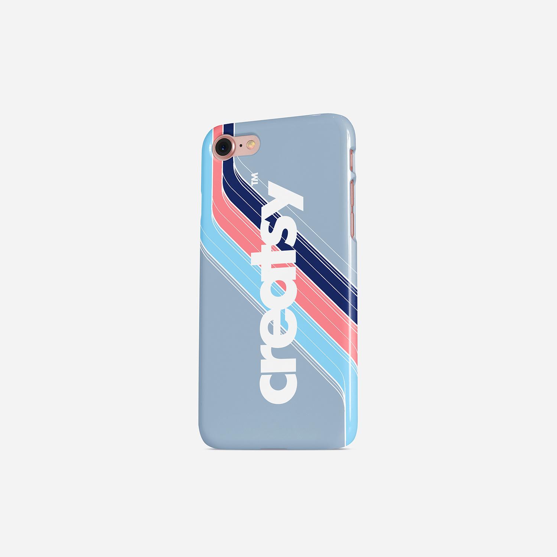 iPhone Glossy Snap Case PSD Mockup