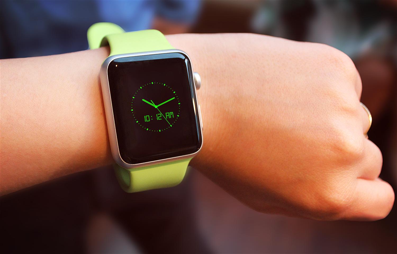 Apple Watch Sport Mockup PSD