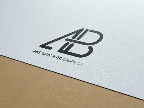 Paper Logo Branding Mockup