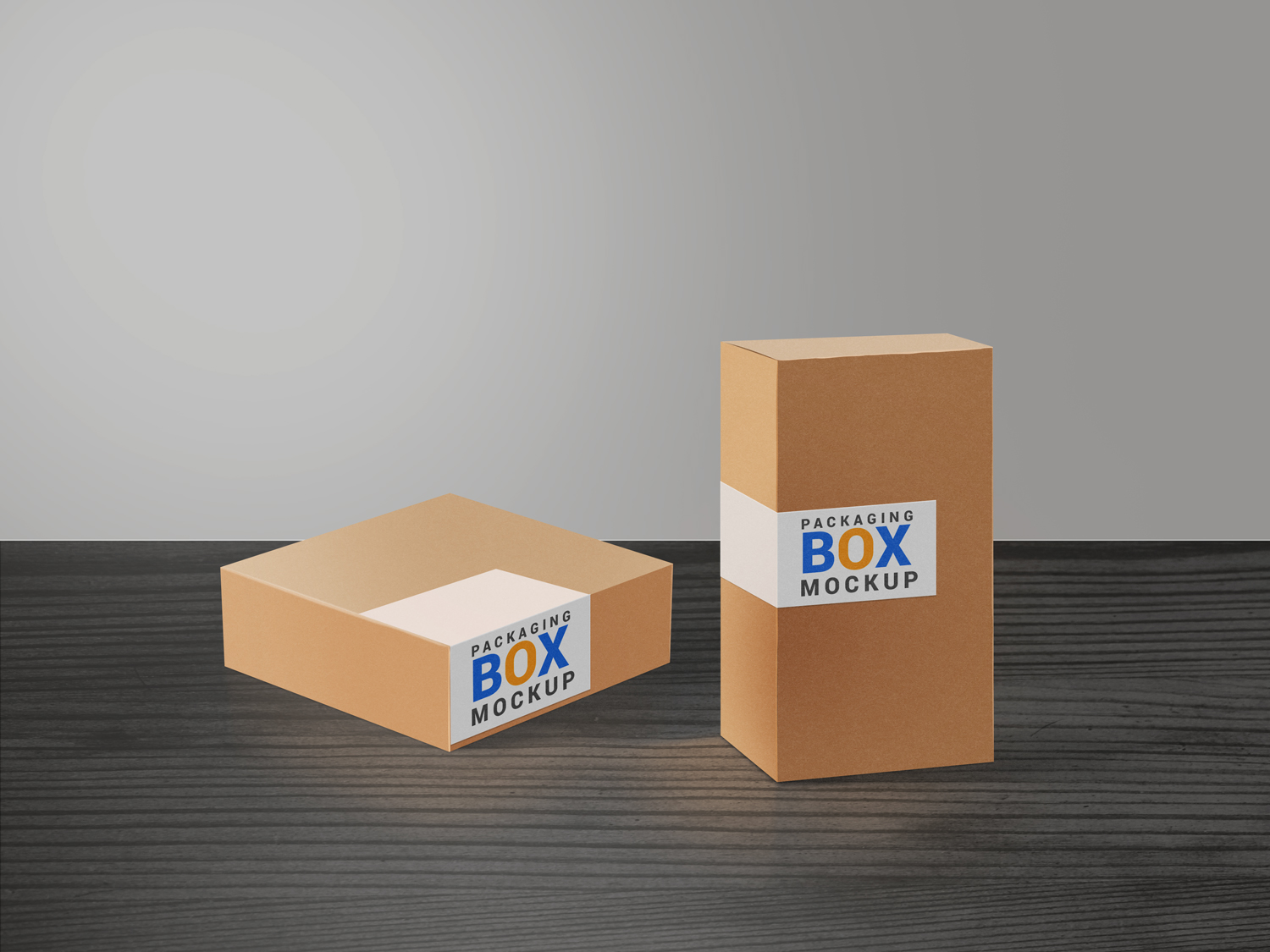 Product Packaging Boxes PSD Mockup