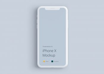iPhone X Clay Mockup PSD