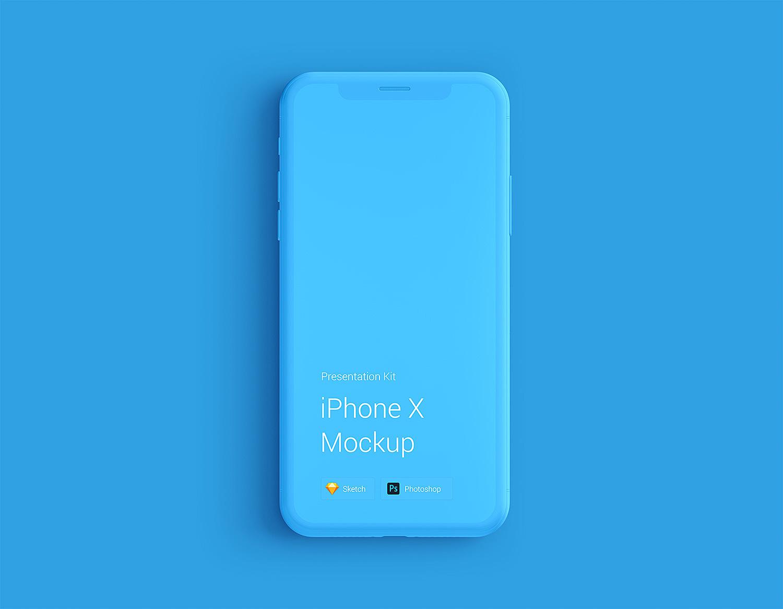 iPhone X Clay Mockup PSD