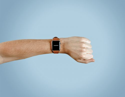 Apple Watch Mockup on Man's Hand