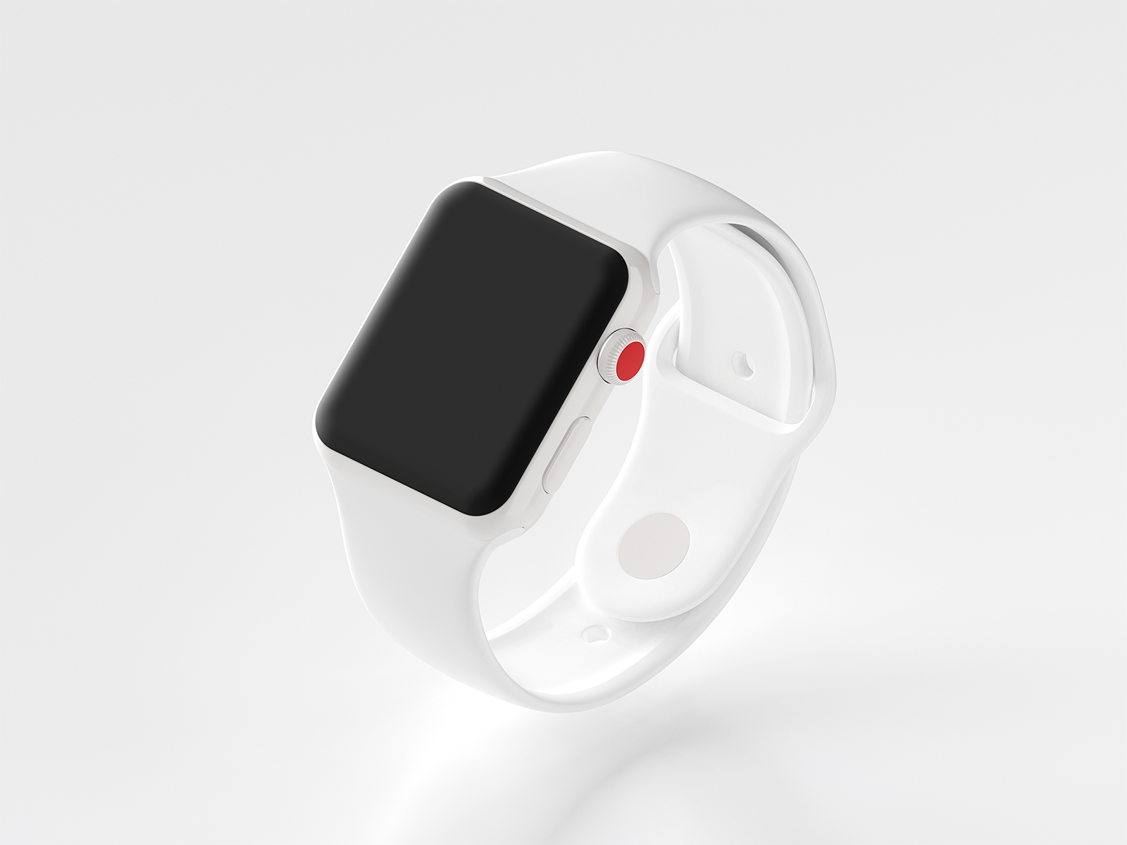 Ceramic Apple Watch Series 3 Mockup