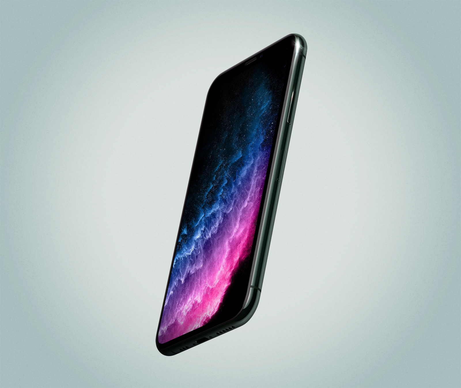 Floating iPhone 11 Pro PSD Mockup