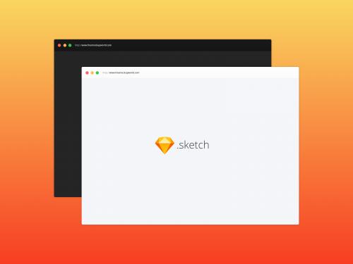 Minimal Web Browser Mockups Sketch App