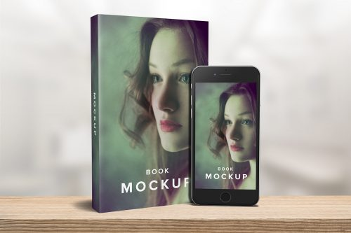 Paperback Book with iPhone Mockup