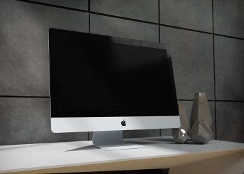 Realistic 5k iMac Mockup PSD