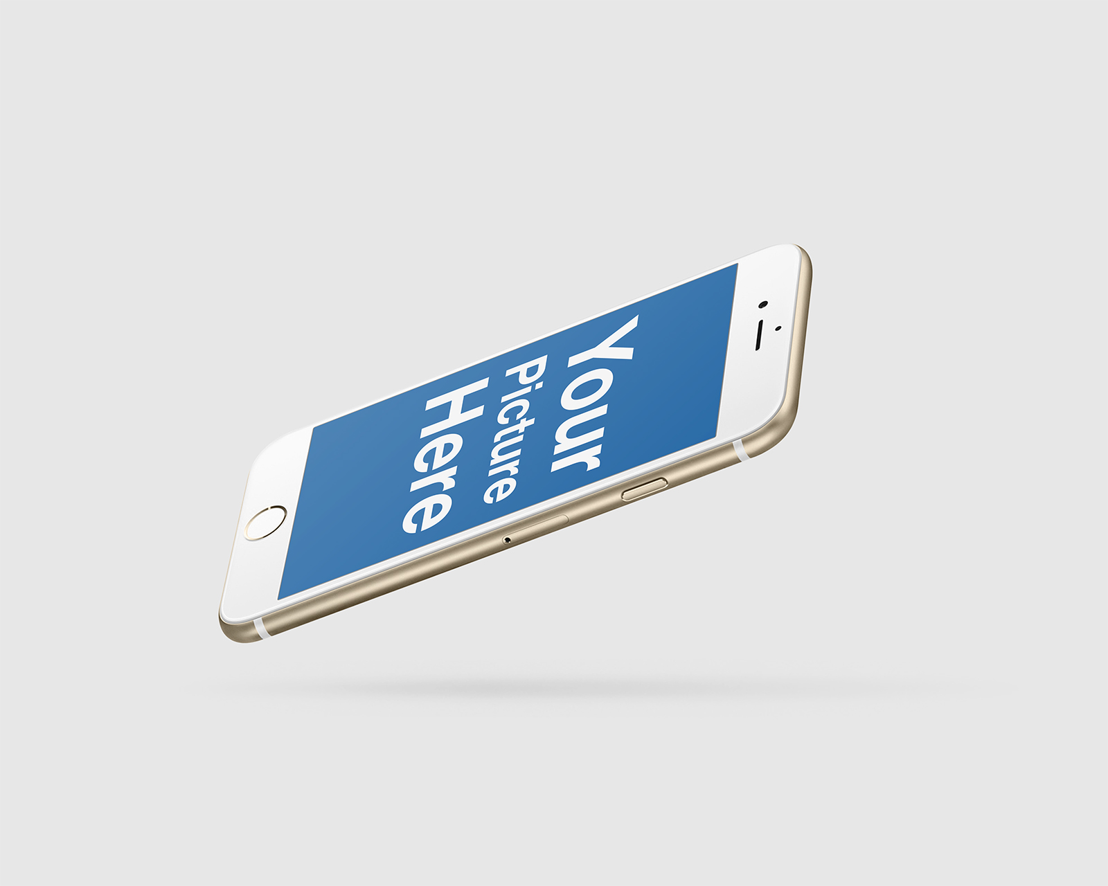 Set of Floating iPhone Mockups