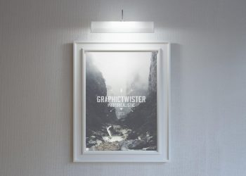 Wall Poster Photo Frame Mockup