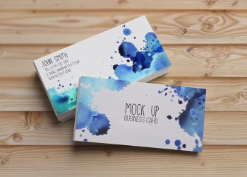Watercolor Business Card Mockup