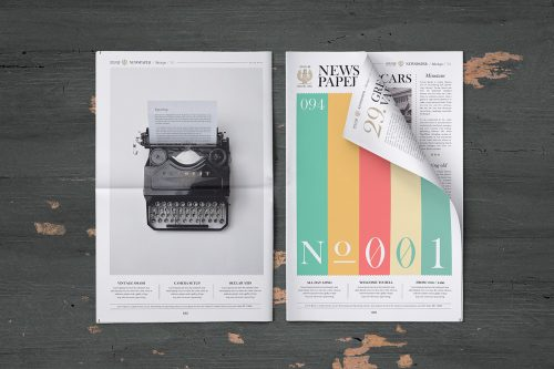 Free Newspaper Mock-Up PSD