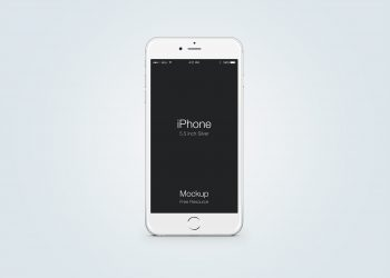 Frontal View White iPhone Mockup