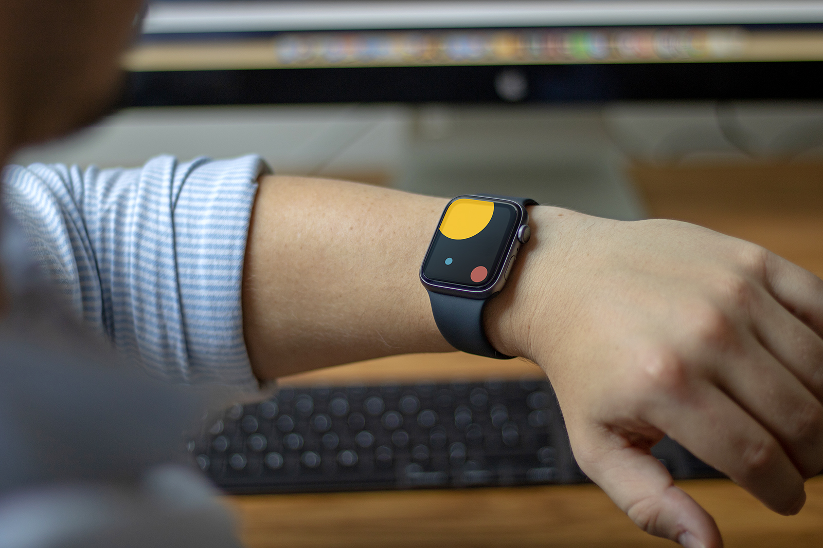 Apple Watch on Arm Mockup