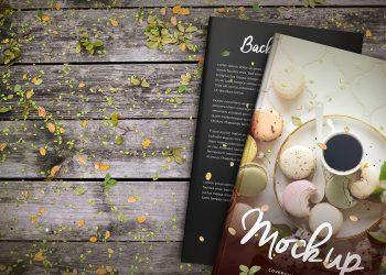Basil & Spice Hardcover Book Mockup