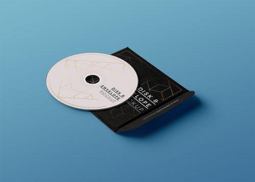 CD/DVD Envelope PSD Mockup