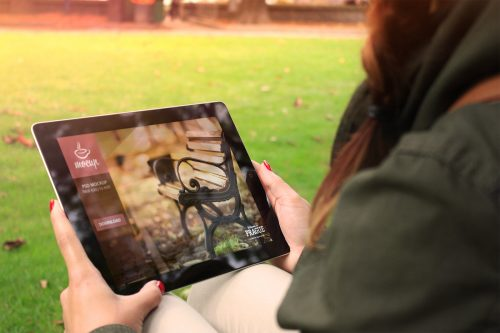 Free iPad Mockup Autumn