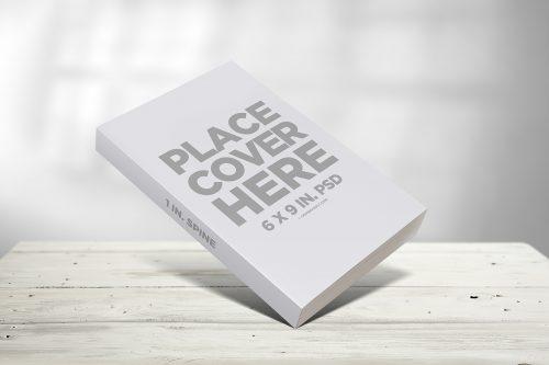 Propped Paperback Book Mockup